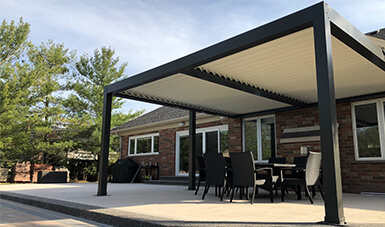 Modern Aluminum Pergola Two Sections