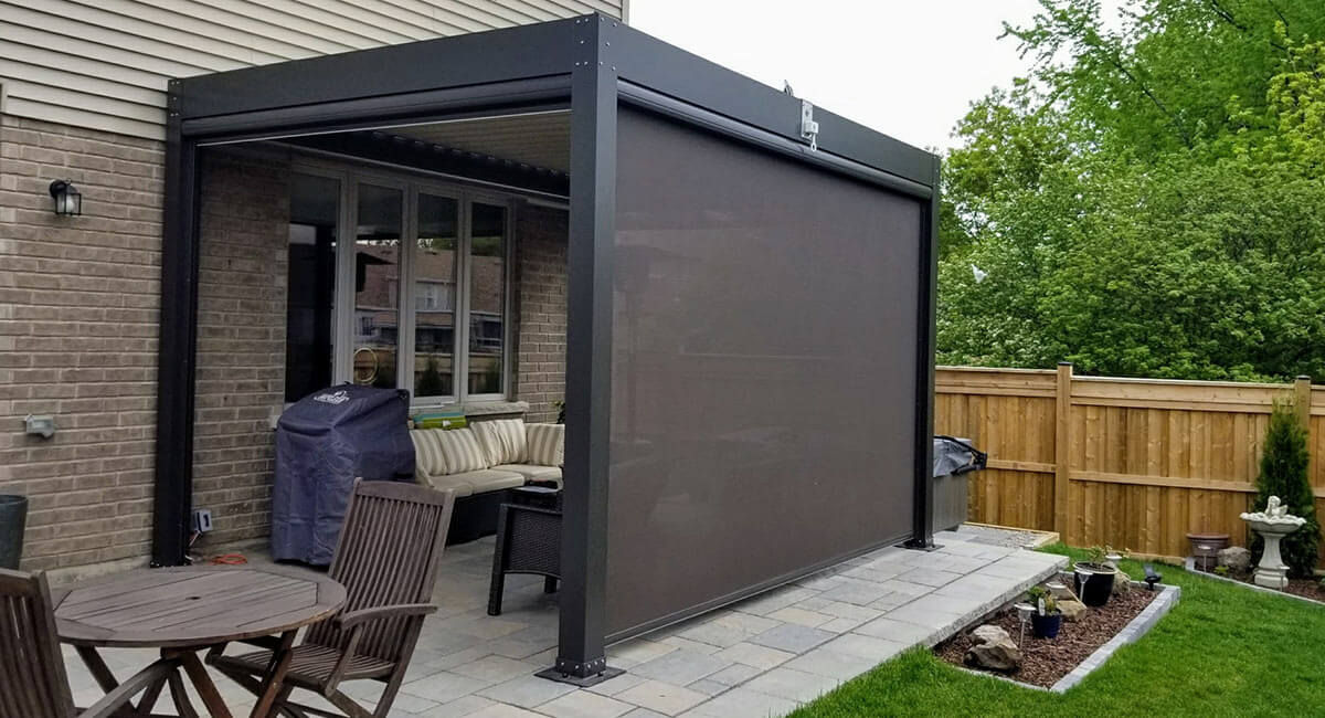 modern pergola design aluminum pergola. Black Bedroom Furniture Sets. Home Design Ideas