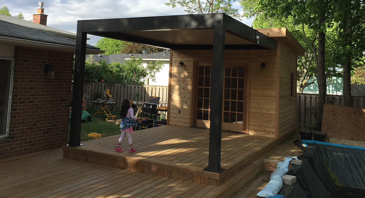 Freestanding Patio Pergola & Patio Pergola a trendy landscaping feature made of aluminum