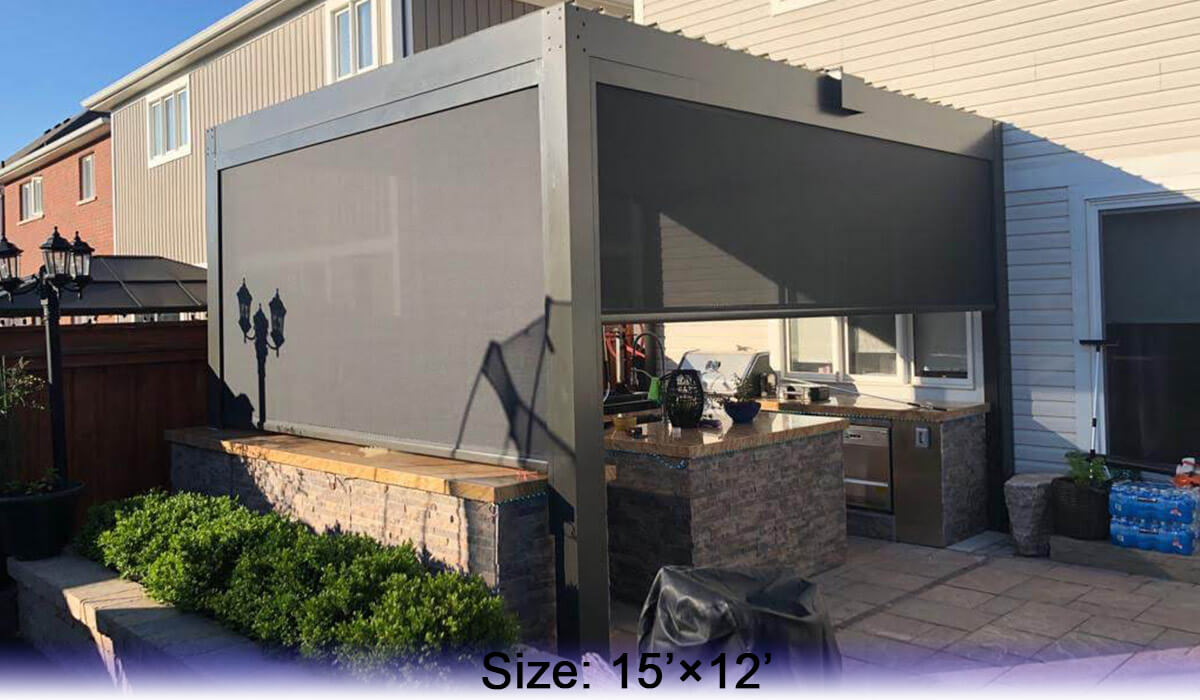 Aluminum Pergola Advanced Opening And Closing Louvered Roof System
