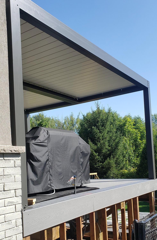 Aluminum Pergola with side screens