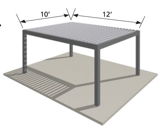Aluminum Pergola KIT 10 by 12