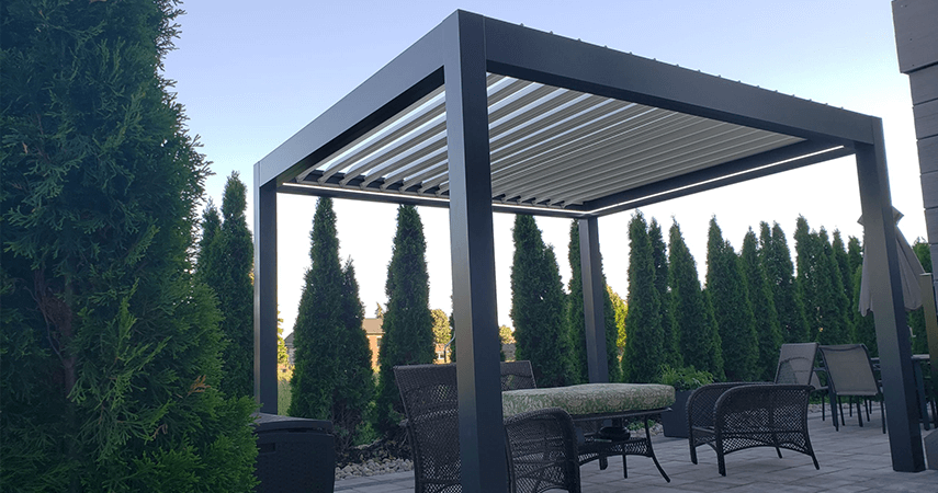 Aluminum Pergola - advanced opening and closing louvered
